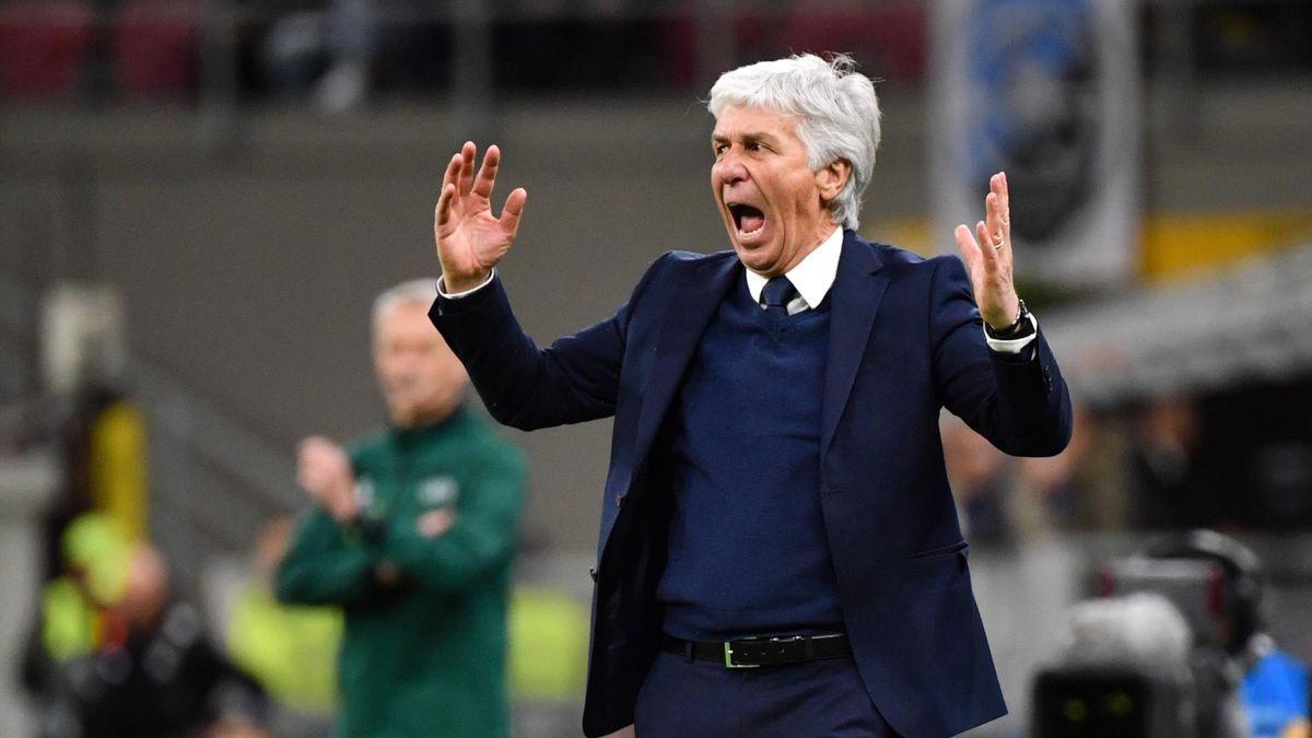 Atalanta-Coach Gian Peiro Gasperini während des Champions-League-Spiels gegen den FC Valencia