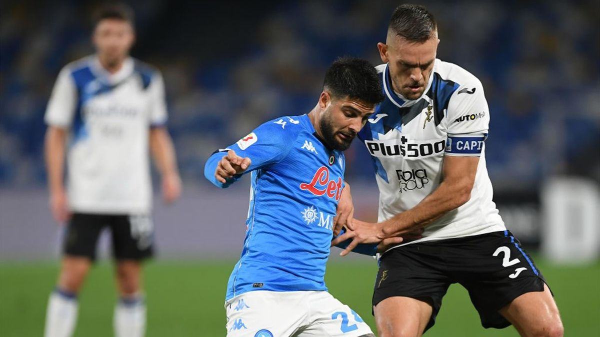 Lorenzo Insigne e Rafael Toloi - Napoli-Atalanta Coppa Italia 2020-21