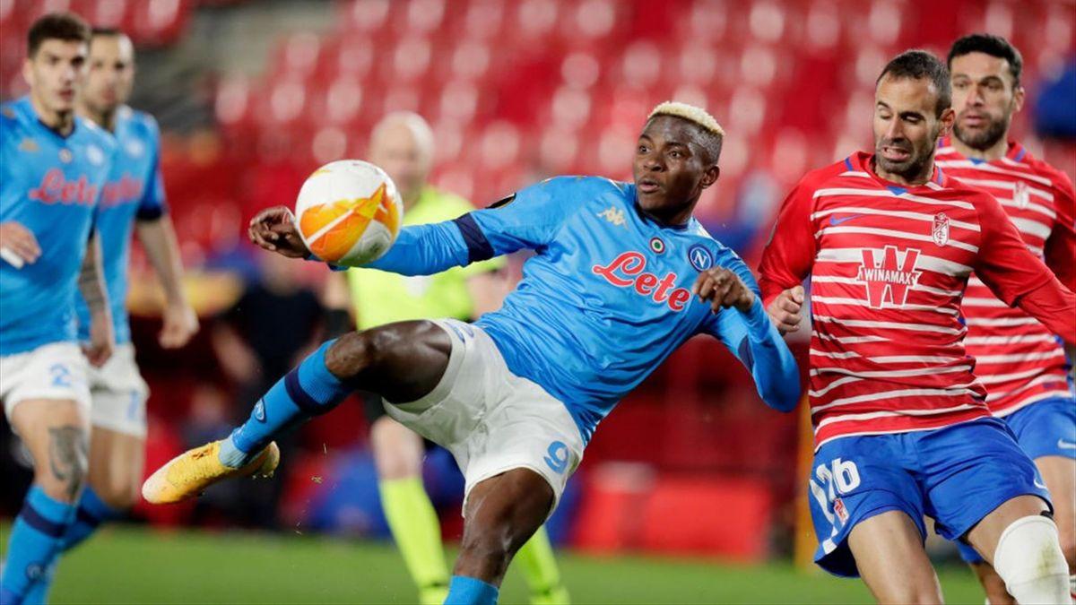 Victor Osimhen - Granada-Napoli - Europa League 2020/2021 - Getty Images