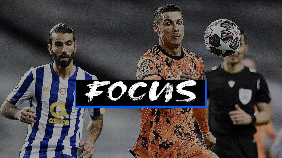 Cristiano Ronaldo nella gara d'andata col Porto: dai suoi piedi e dal suoi gol passano le fortune di una Juventus che non si può permettere di uscire agli ottavi di Champions