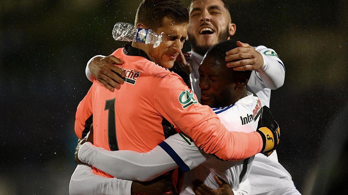 Les Lyonnais célèbrent leur qualification en quart de finale de Coupe de France