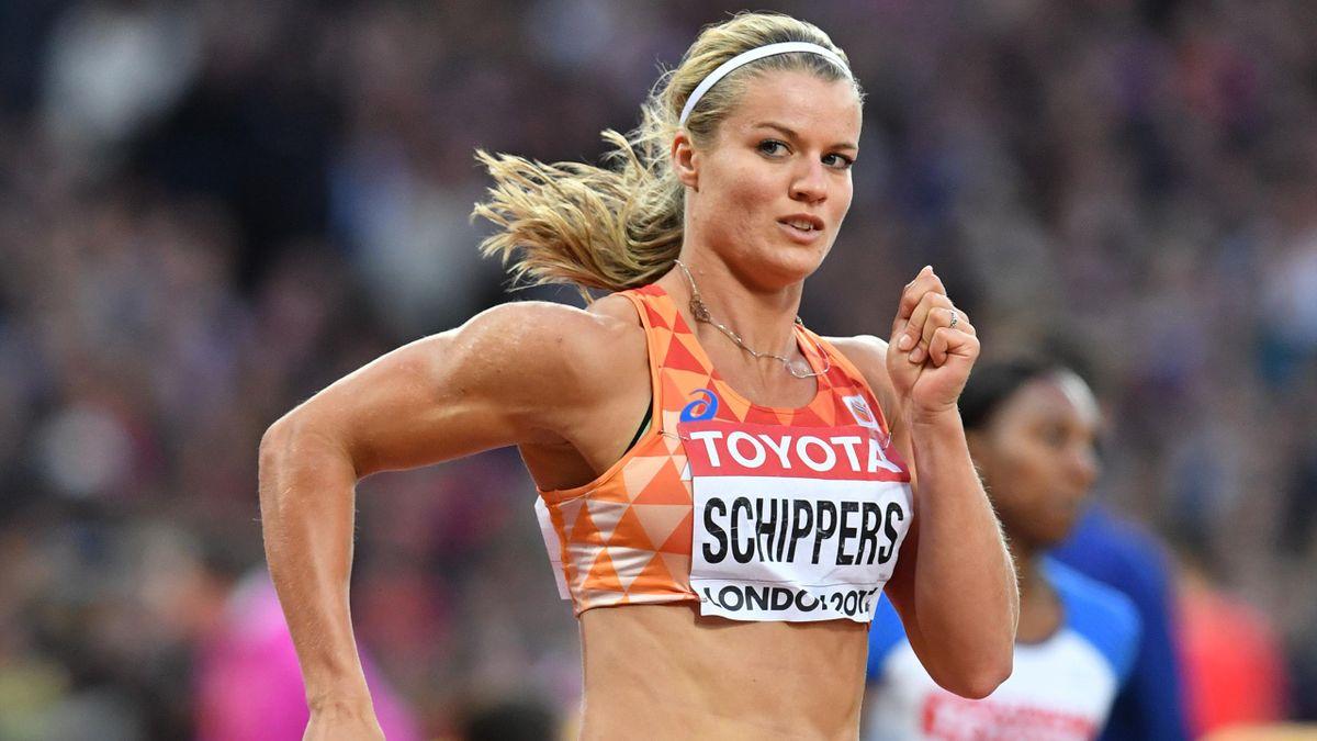 Dafne Schippers aux Mondiaux de Londres.