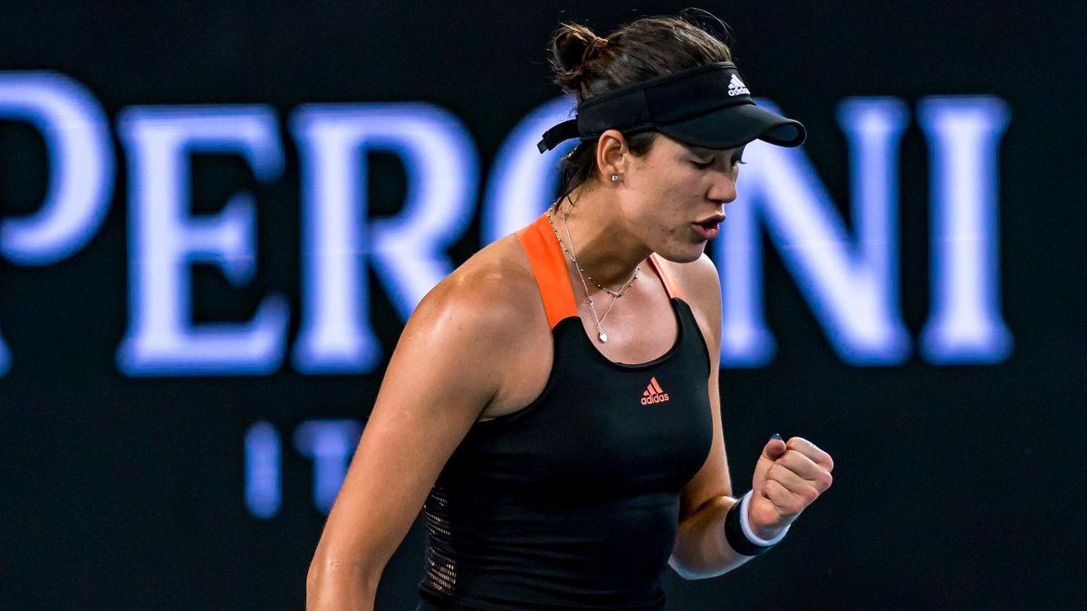Garbiñe Muguruza en el WTA Melbourne, celebra su pase a semifinales tras ganar a Sofia Kenin