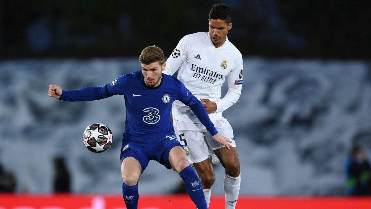 Timo Werner (Chelsea) and Raphaël Varane (Real Madrid) / Champions League