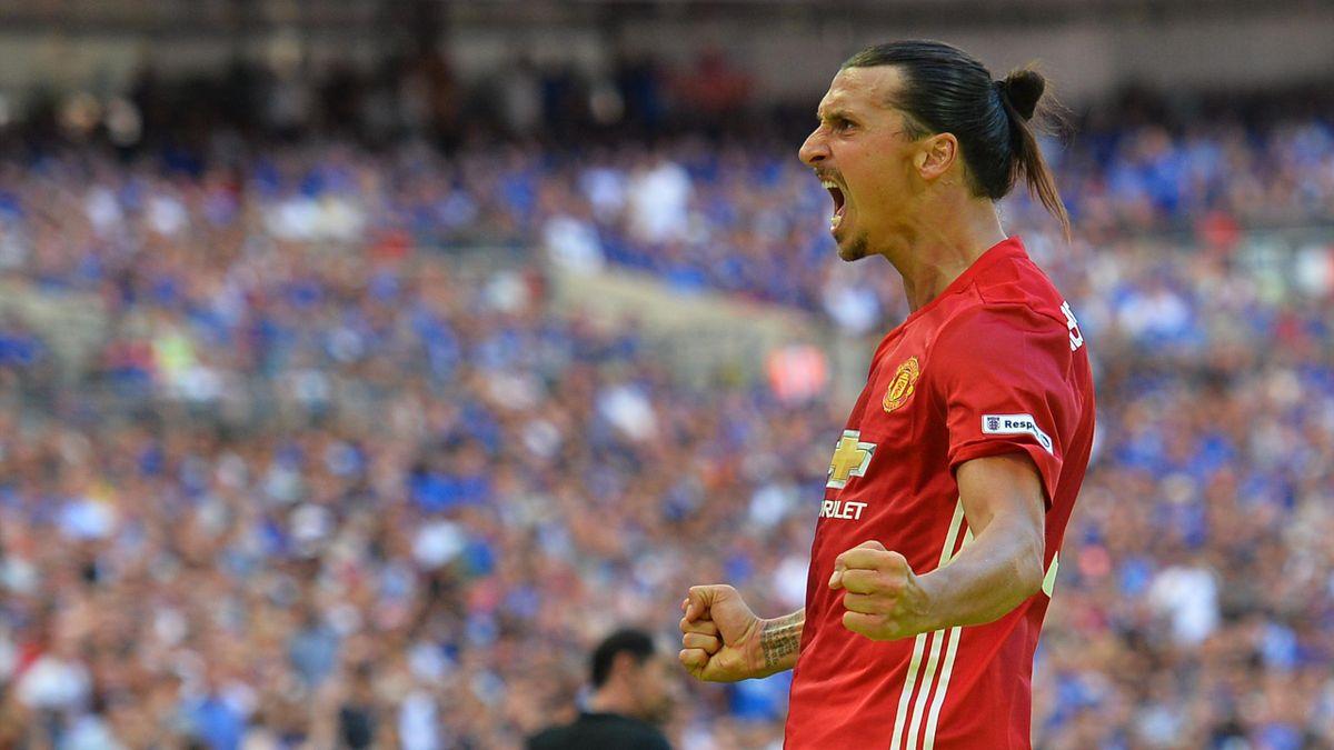 Zlatan Ibrahimovic with Manchester United