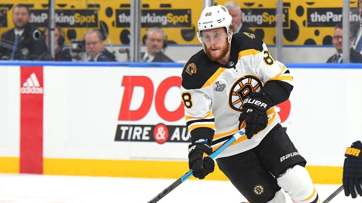 David Pastrnak #88 of the Boston Bruins