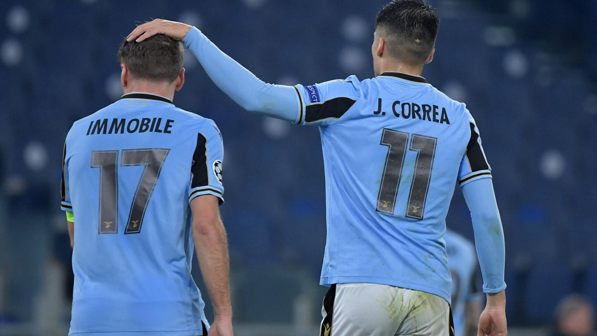 Immobile, Joaquin Correa - Lazio-Bayern Monaco - Champions League 2020/2021 - Imago