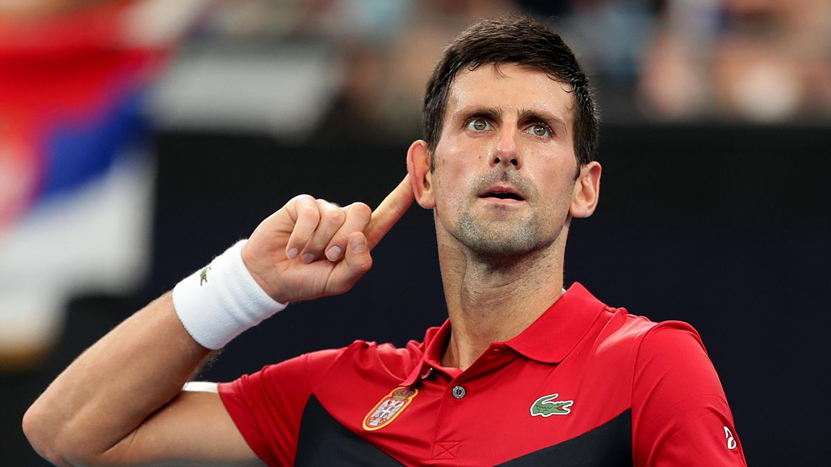 Tennis News Novak Djokovic Beats Denis Shapovalov To Pull Serbia Into Atp Cup Semi Finals Eurosport