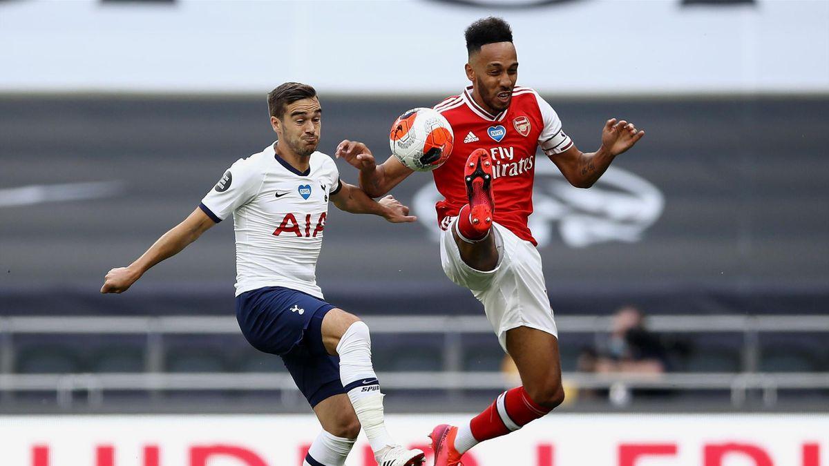 Harry Winks de la Tottenham va avea viață grea cu Pierre-Emerick Aubameyang, atacantul lui Arsenal
