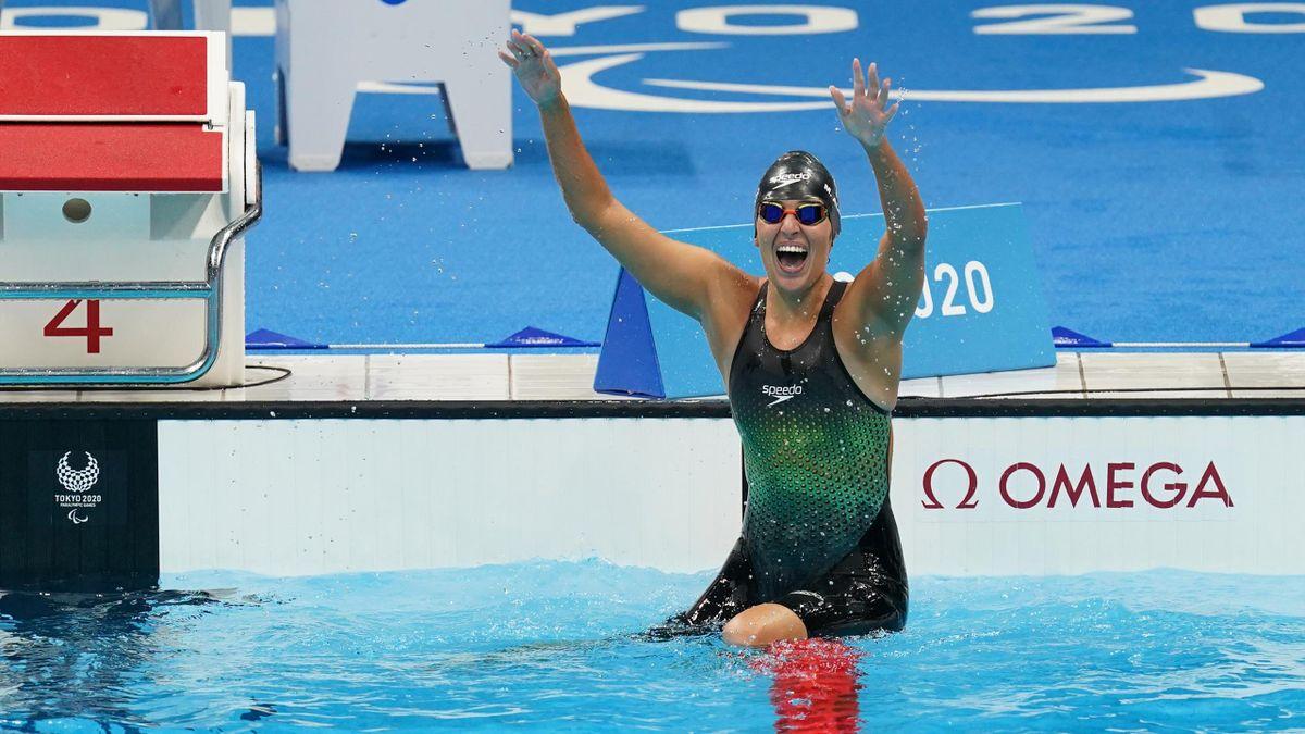 Michelle Alonso (España, natación). Juegos Paralímpicos Tokio 2020