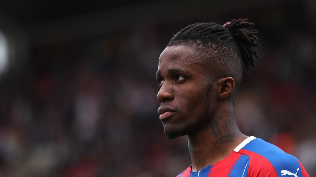 Wilfried Zaha of Crystal Palace during the Premier League match between Crystal Palace and AFC Bournemouth at Selhurst Park on May 12, 2019 in London, United Kingdom.