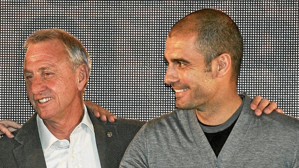 Johan Cruyff și Pep Guardiola