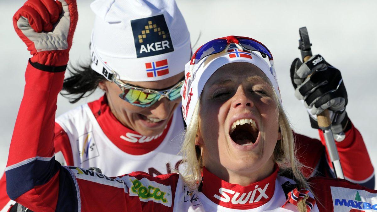 Therese Johaug und Marit Björgen