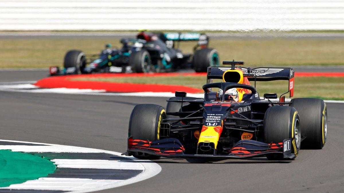 Max Verstappen siegte im Red Bull beim zweiten Rennen in Silverstone innerhalb einer Woche