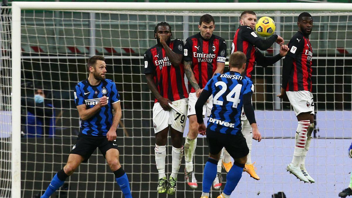 Christian Eriksen (Inter Mailand) wirft den AC Milan mit einem Traumfreistoß aus der Coppa Italia