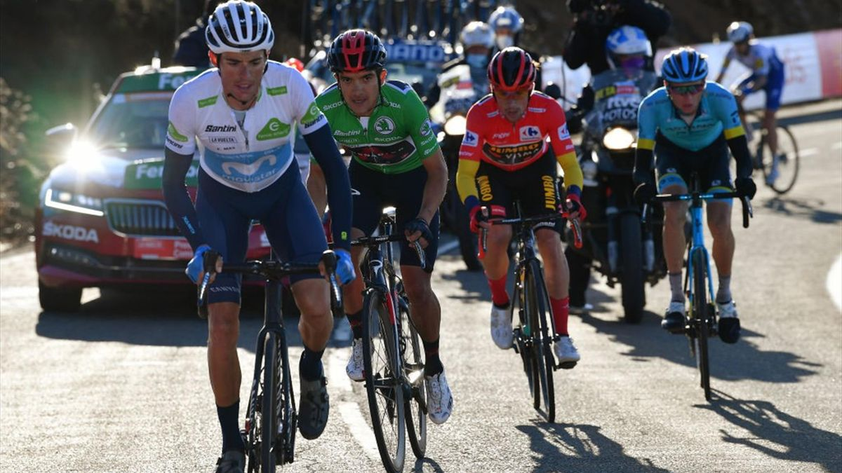 Enric Mas, Carapaz, Vlasov, Roglic - Vuelta 2020, stage 17 - Getty Images