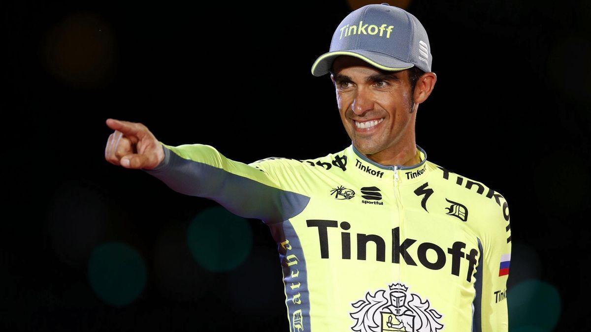 Alberto Contador, en el podio de La Vuelta 2016