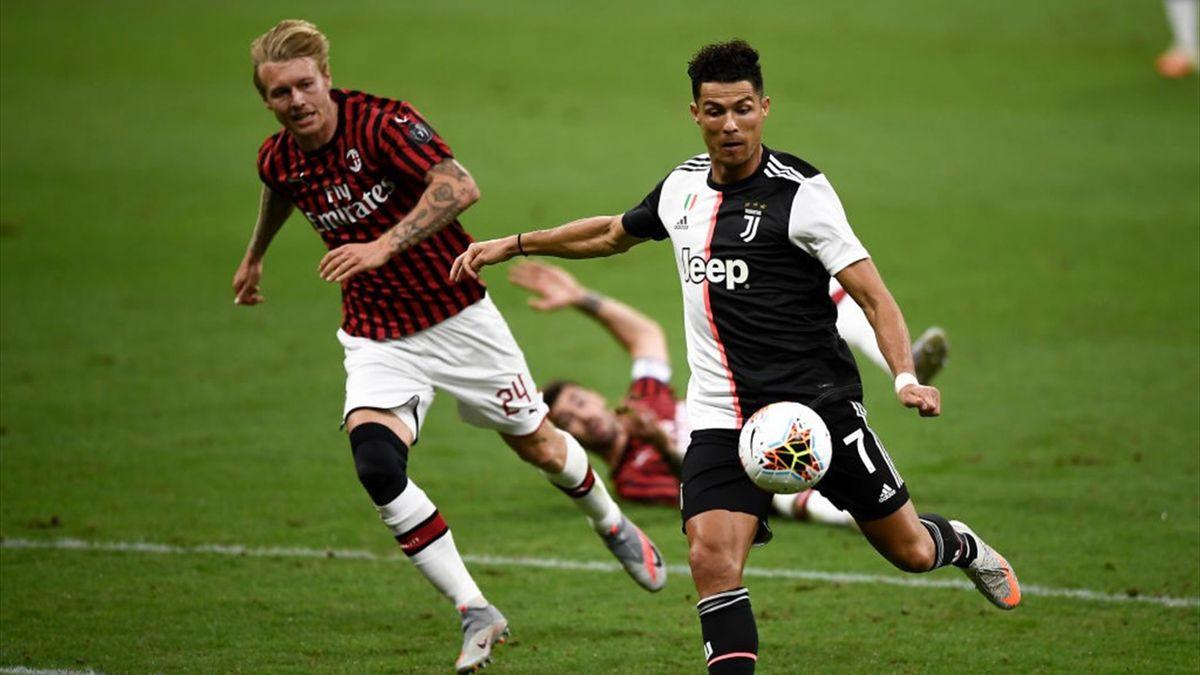 Cristiano Ronaldo, Kjaer - Milan-Juventus - Serie A 2019/2020 - Getty Images