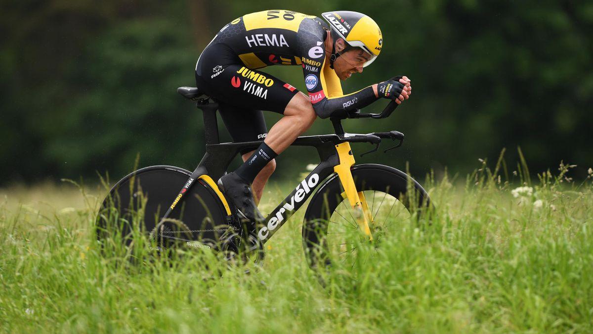 Tom Dumoulin, le 6 juin, lors de la 1re étape du Tour de Suisse