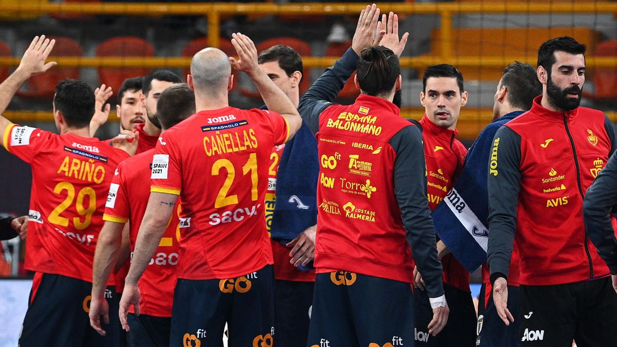 La selección española durante el mundial de balonmano ed Egipto