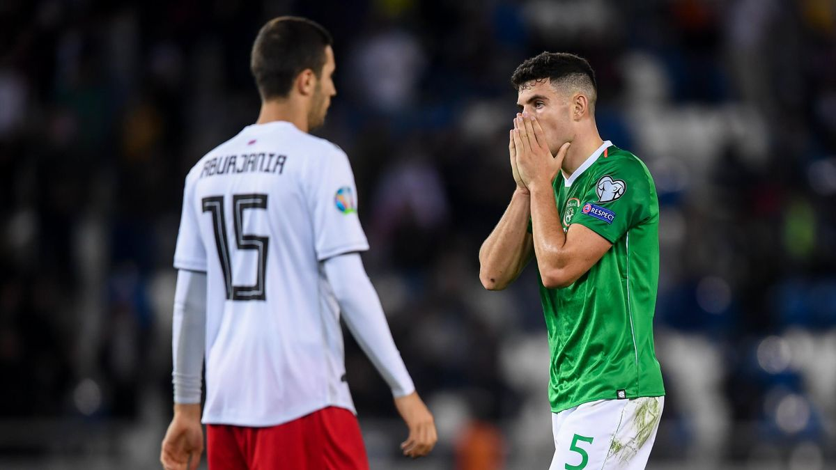 John Egan of Republic of Ireland following the UEFA EURO2020 Qualifier match between Georgia and Republic of Ireland at the Boris Paichadze Erovnuli Stadium in Tbilisi
