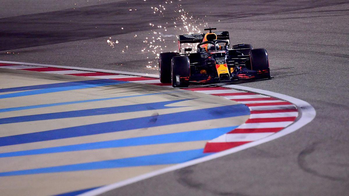 Max Verstappen (Red Bull) lors des essais du Grand Prix de Sakhir, le 5 décembre 2020, à Bahreïn