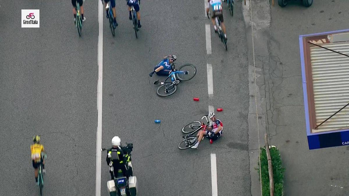 Giro d'Italia Crash Peter Weening