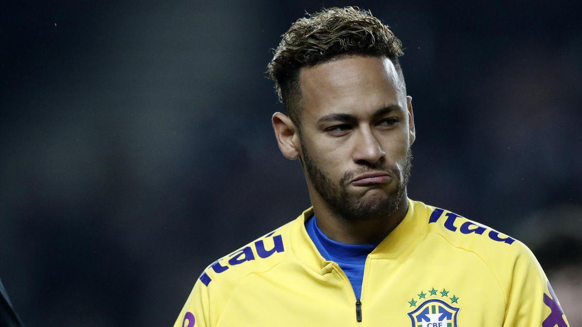 Neymar lors de la rencontre amicale entre le Brésil et le Cameroun