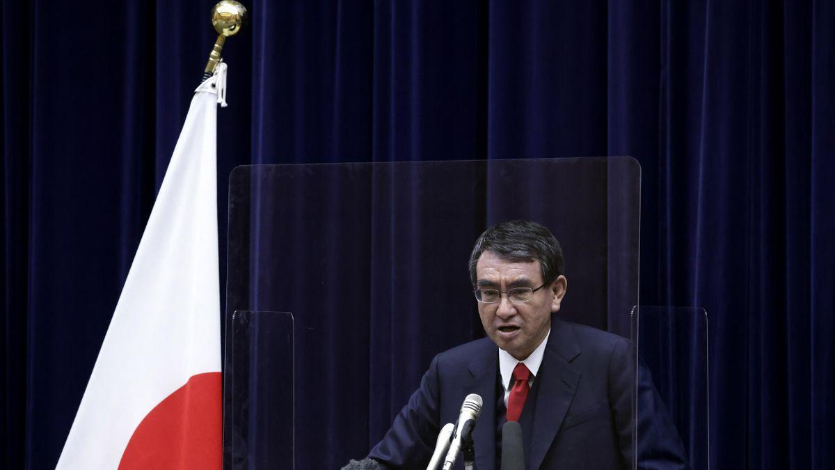 Minister Taro Kono ist für die Impfungen in Japan zuständig