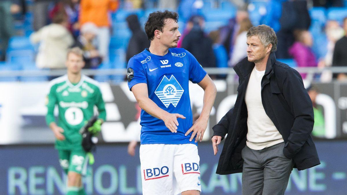 Moldes Vegard Forren og manager Ole Gunnar Solskjær
