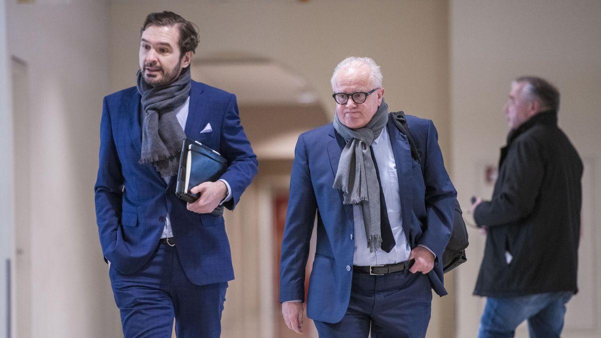 Liegen im Clinch: DFB-Präsident Fritz Keller und Generalsekretär Friedrich Curtius (links)