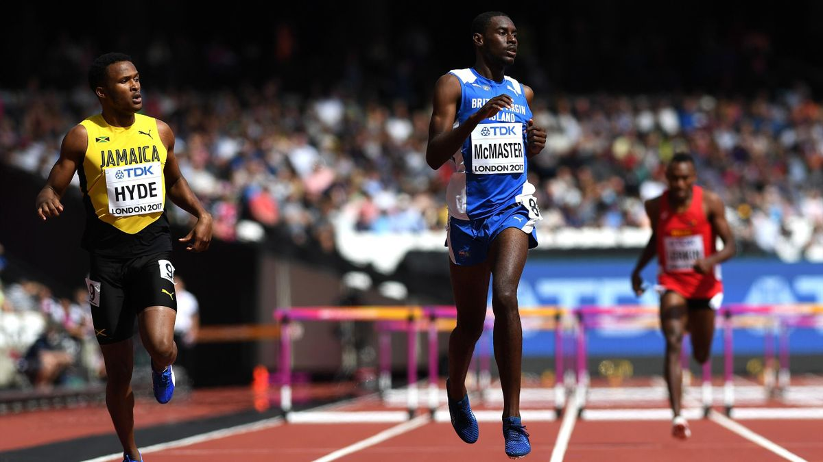 World leader Kyron McMaster disqualified in 400m hurdles ...