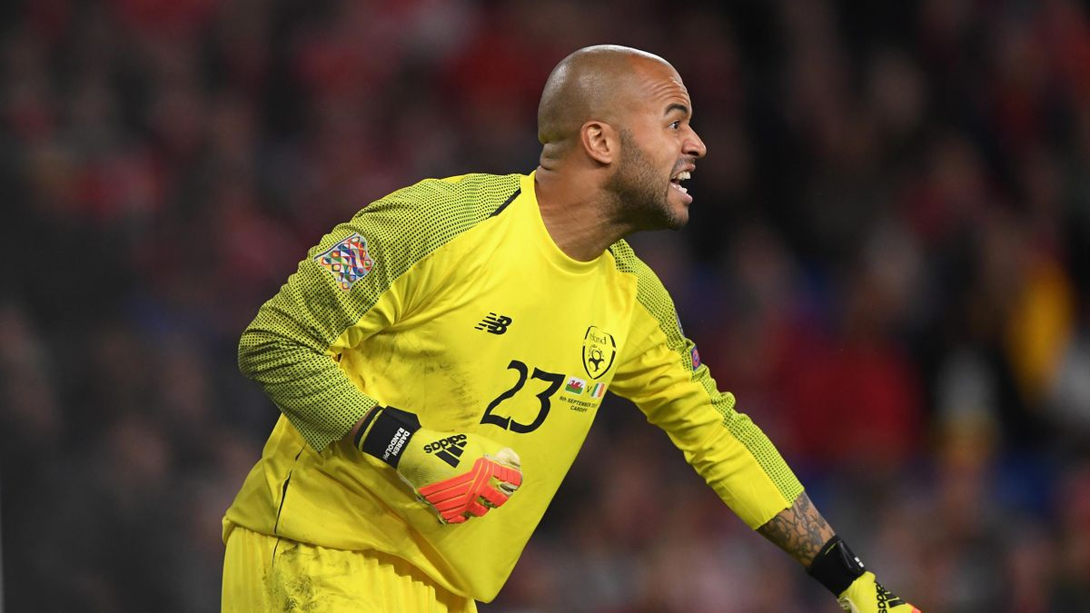 Ireland goalkeeper Darren Randolph in action during the UEFA Nations League B group four match between Wales and Republic of Ireland at Cardiff City Stadium on September 6, 2018 in Cardiff, United Kingdom.