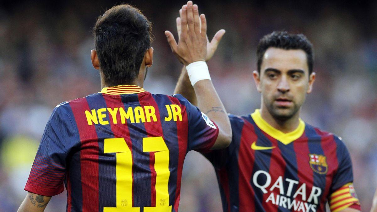 Xavi et Neymar