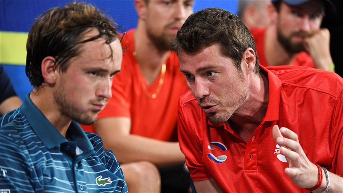 Daniil Medvedev a fost un pachet de nervi în timpul ATP Cup 2020