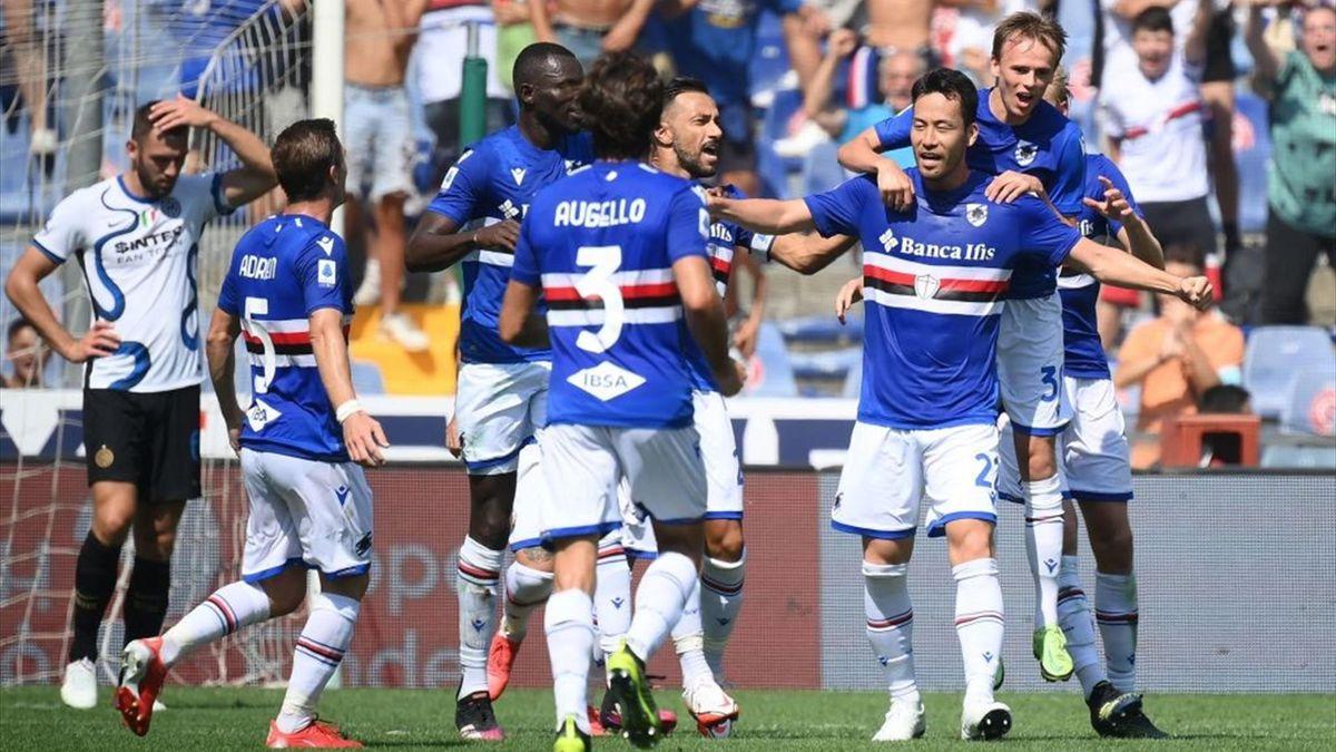 Il gol di Yoshida in Sampdoria-Inter