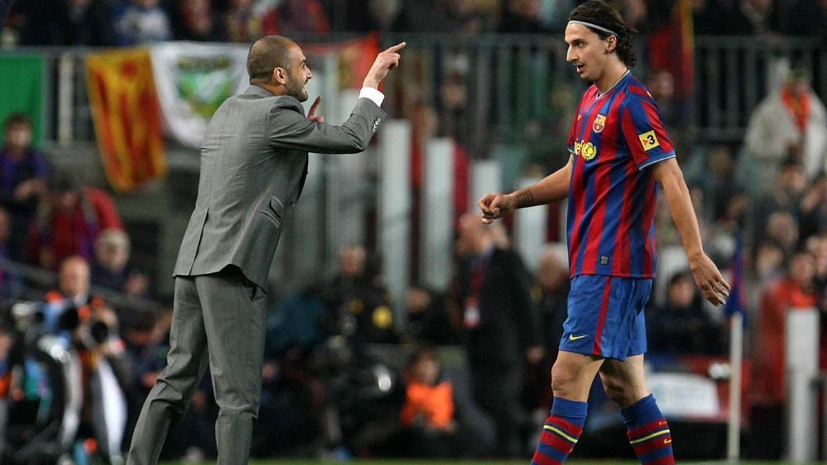 Pep Guardiola und Zlatan Ibrahimovic