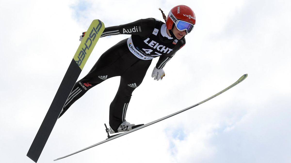 Katharina Althaus landete auf Rang drei
