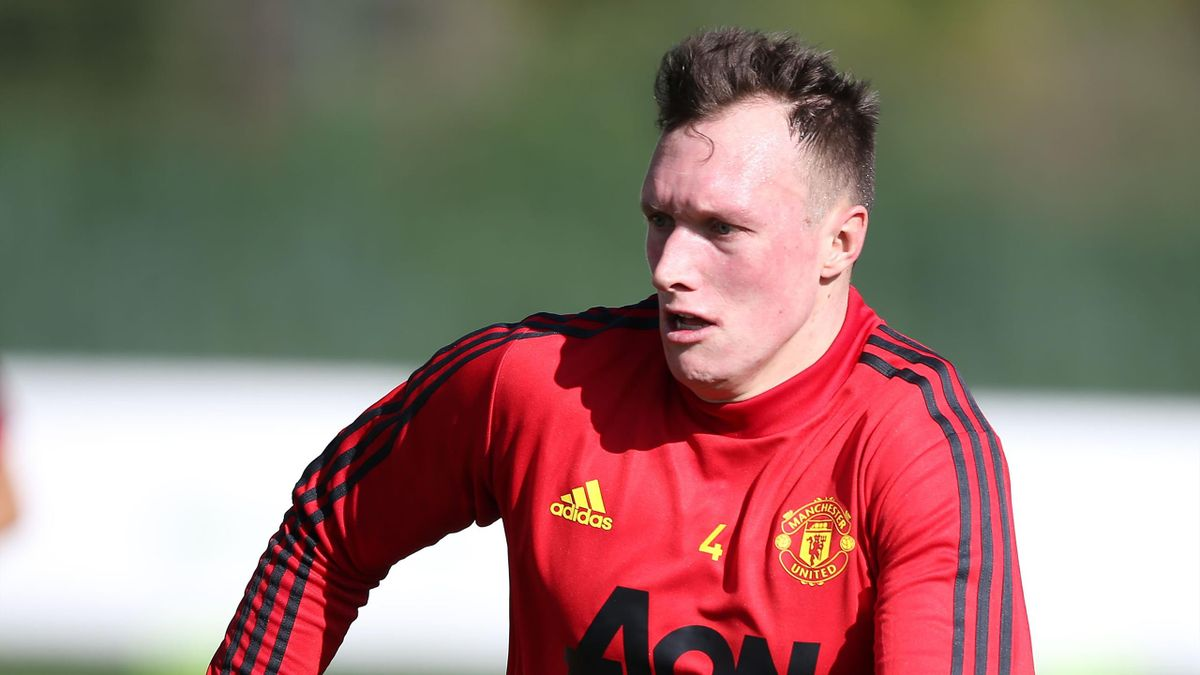 Phil Jones of Manchester United in action during a first team training session on February 09, 2020 in Malaga, Spain.