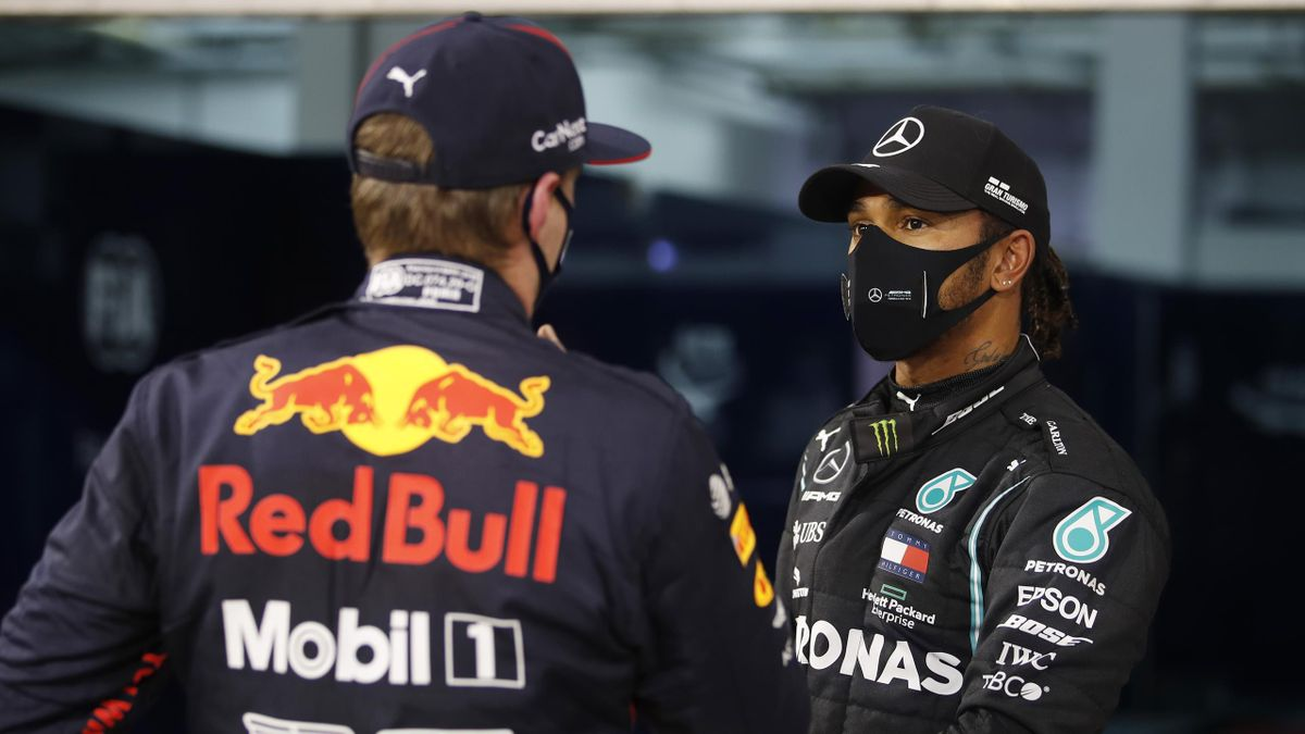 Max Verstappen și Lewis Hamilton - GP Bahrain 2020
