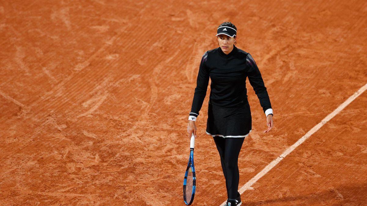 Garbiñe Muguruza lors de son match du 3e tour à Roland-Garros 2020