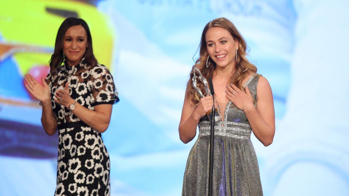 Sophia Flörsch bedankt sich für den Laureus Award
