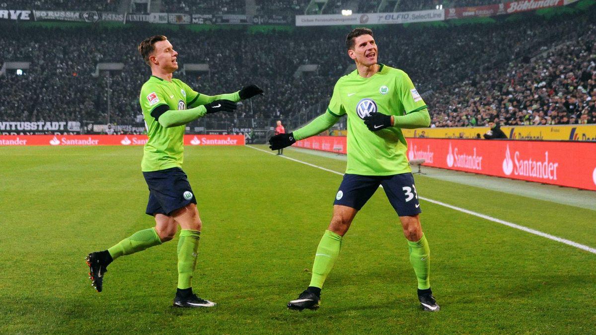 Mario Gomez schießt den VfL Wolfsburg zum Sieg gegen Borussia Mönchengladbach