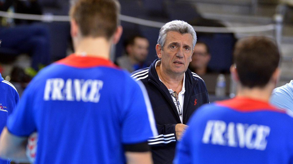 Claude Onesta (France) en session de préparation au Mondial 2015, le 8 janvier 2015 à Pornic