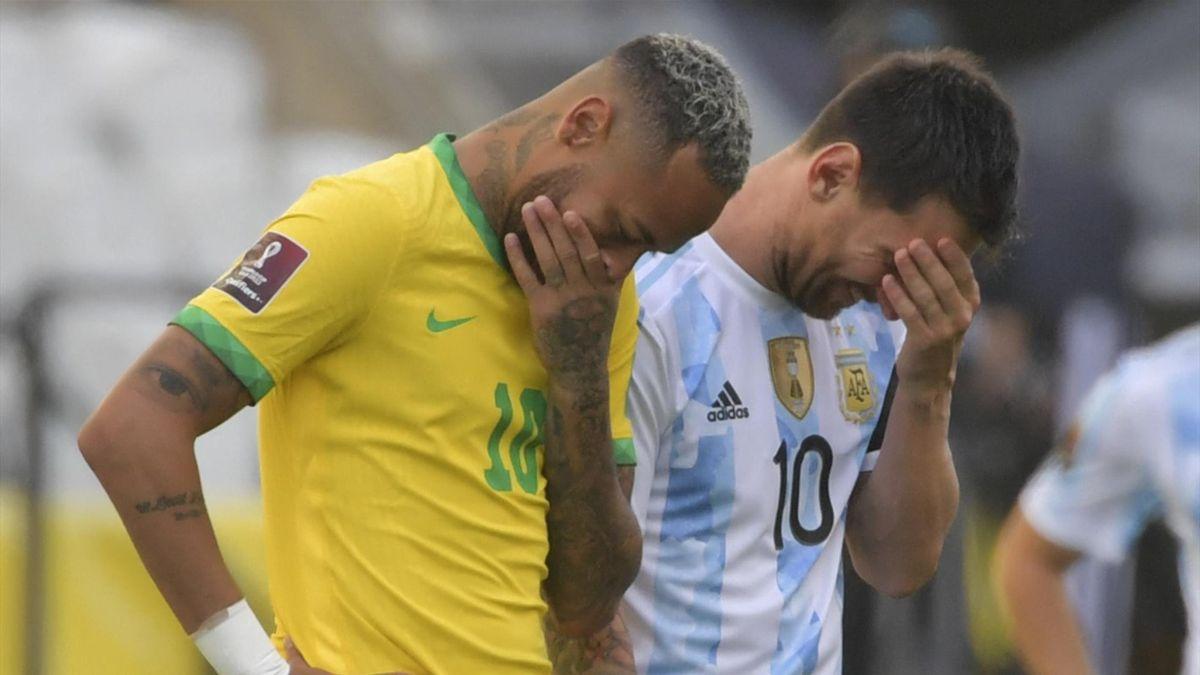 Neymar and Lionel Messi | Brazil v Argentina