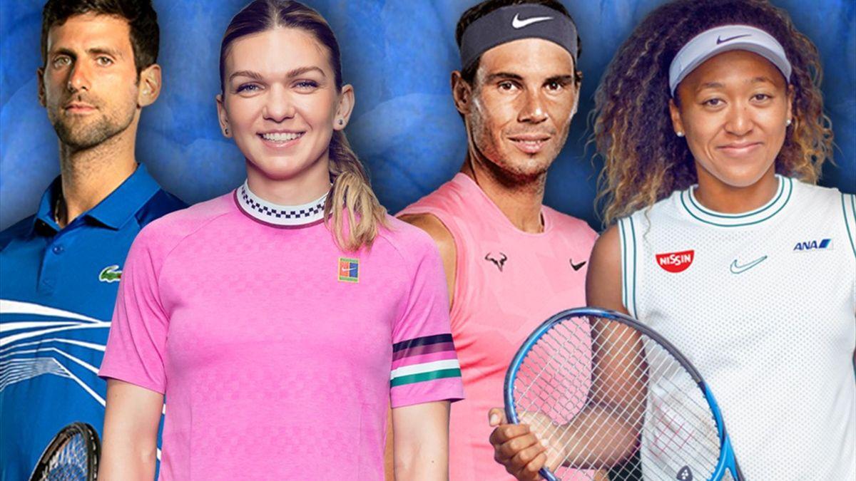 Simona Halep & Novak Djokovic & Rafael Nadal