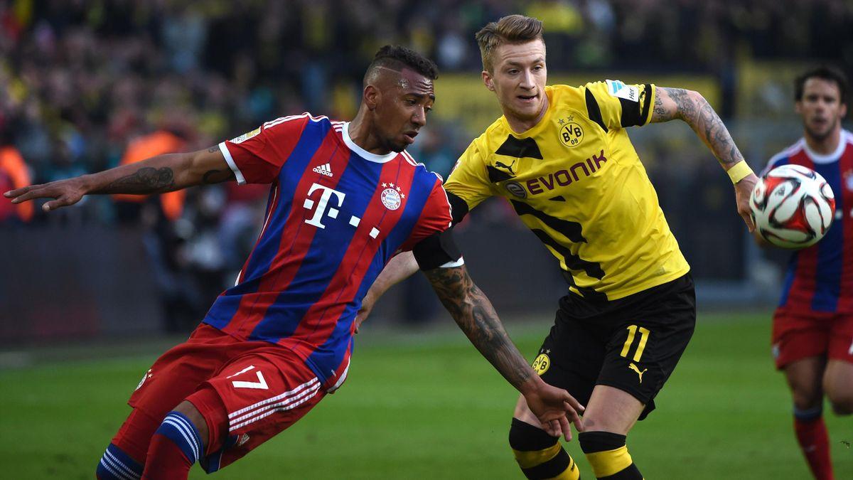 Der Gipfel: Borussia Dortmund um Marco Reus will den FC Bayern mit Jérôme Boateng bezwingen