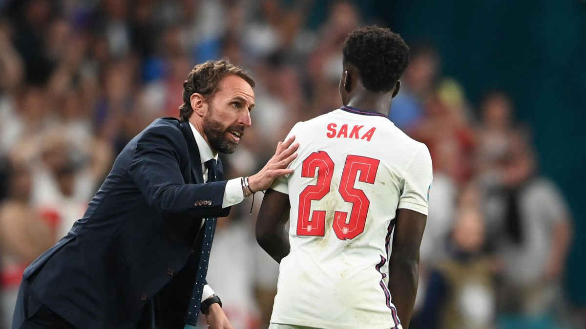 Italy v England - UEFA Euro 2020: Final, Gareth Southgate, Bukayo Saka