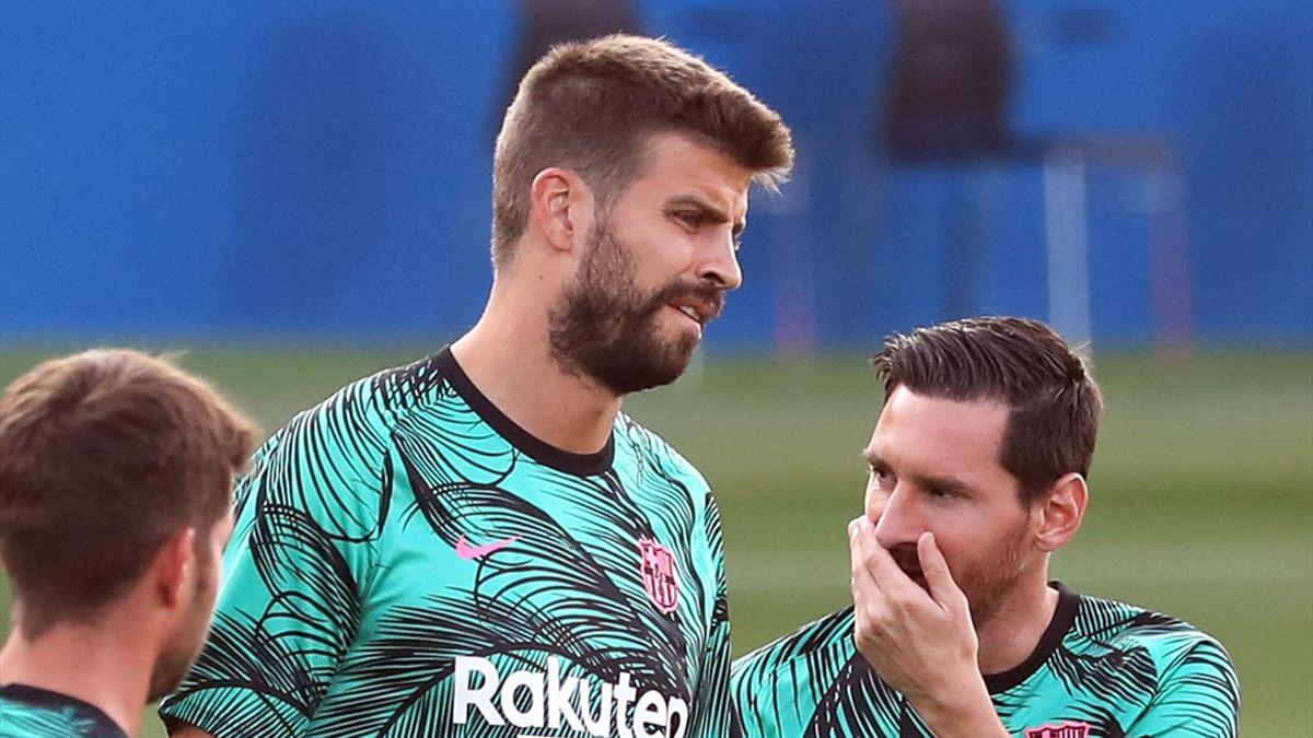 Gerard Pique Lionel Messi