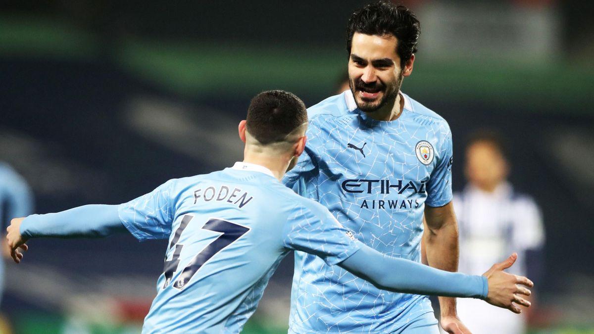 Ilkay Gündogan (r.) von Manchester City